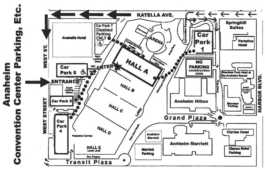 Anaheim Convention Center Map Rtlbreakfastclub