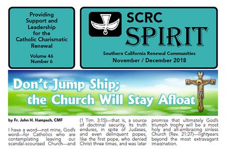 """""""Spirit"""" Newsletter November / December 2018"""
