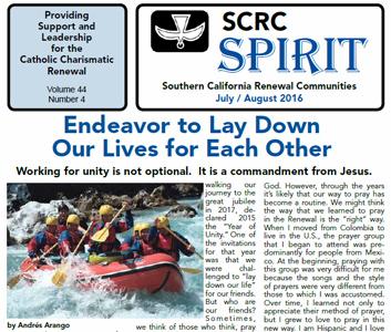 """""""Spirit"""" Newsletter July / August 2016"""
