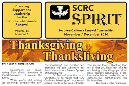 """""""Spirit"""" Newsletter November / December 2016"""