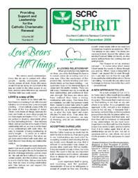 Spirit Newsletter November and December 2008